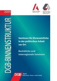 Programm Binnenstruktur - Arbeit und Leben