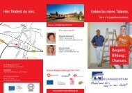Flyer Jugendwerkstätten - A + W Bildungszentrum