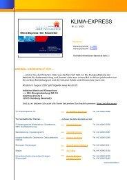Klima-Express: Der Newsletter - Initiative Arbeit und Klimaschutz