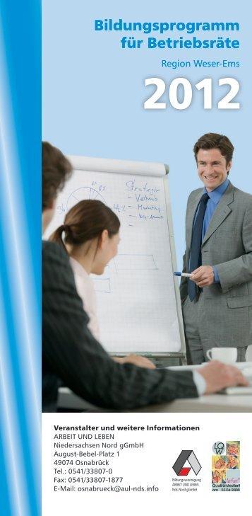 Bildungsprogramm für Betriebsräte - Arbeit und Leben