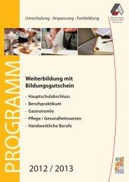 Weiterbildung mit Bildungsgutschein - Arbeit und Leben