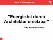 Energie ist durch architektur ersetzbar - Initiative Arbeit und ...