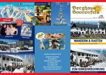 können Sie unseren Hausprospekt als PDF ... - Berghaus Sonnenfels
