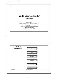 Model-view-controller Pattern - trese