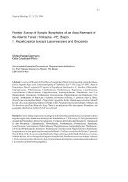 Floristic Survey of Epixylic Bryophytes of an Area ... - Tropical Bryology