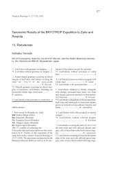 Taxonomic Results of the BRYOTROP Expedition to Zaire and ...
