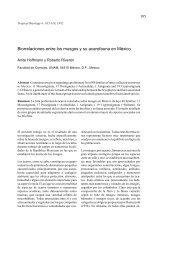 Biorrelaciones entre los musgos y su acarofauna ... - Tropical Bryology
