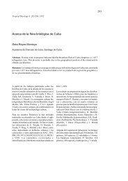 Acerca de la flora briológica de Cuba - Tropical Bryology