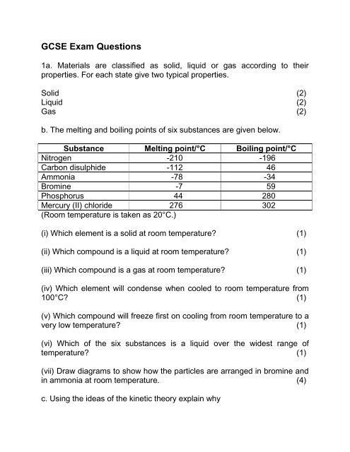 GCSE Exam Questions pdf - TS Tuition