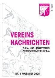 vereins nachrichten nr. 4 november 2008 - TSV Altenfurt