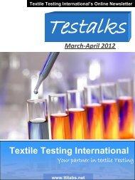 Textile Testing International's Online Newsletter