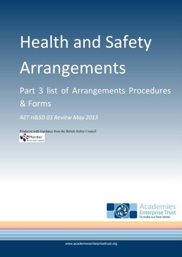 Health and Safety Arrangements