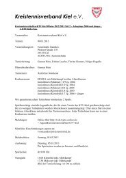 1460-11-Jugendkreismeisterschaften-KTV-Kiel ... - TVPro-online