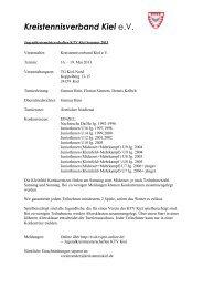 1460-12-Jugendkreismeisterschaften KTV Kiel ... - TVPro-online