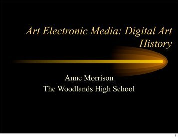 Introduce Internet Artist Research - Woodlands High School
