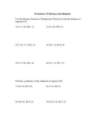 Distance Formula Worksheet Five Pack - Math Worksheets Land