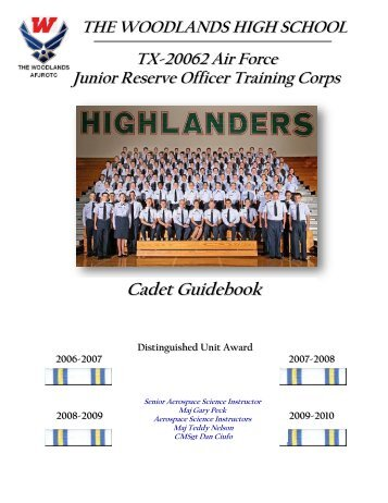 Cadet Guidebook - Woodlands High School - Conroe Independent ...