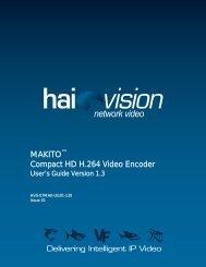 MAKITO Compact HD H.264 Video Encoder - Amazon Web Services