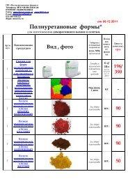 Полиуретановые формы*