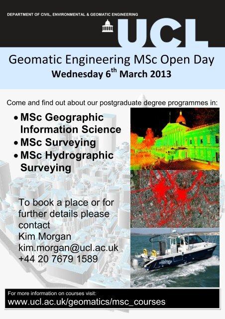 UCL CIVIL AND ENVIRONMENTAL ENGINEERING - Geomatics ...
