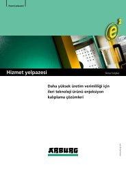 Temel bilgiler - hizmet yelpazesi - Arburg