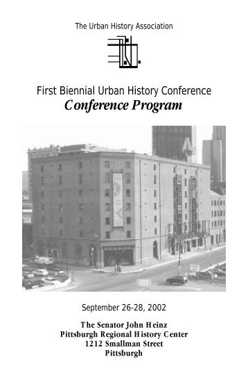 Final Conference Program - The Urban History Association ...