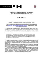 Impact of Project Complexity Factors on New Product Development ...