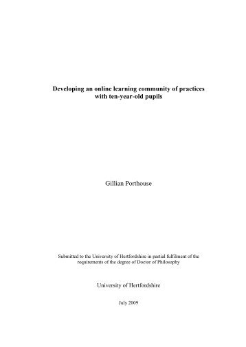 Gillian Porthouse - University of Hertfordshire Research Archive