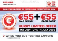 HURRY LIMITED OFFER - Toshiba
