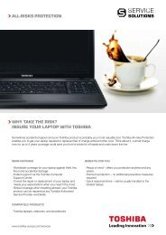 all-risks protection why take the risk? insure your laptop with toshiba