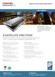 satellite PRo P300 - Toshiba