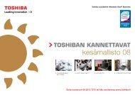 kesämallisto 08 - Toshiba