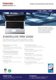 SATELLITE PRO U300 - Toshiba