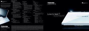 Love to lead ? - Toshiba