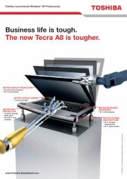 Business life is tough. The new Tecra A8 is tougher. - Toshiba