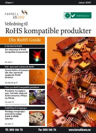 RoHS kompatible produkter - Farnell