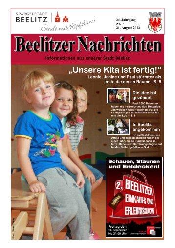 Beelitzer Nachrichten - August 2013