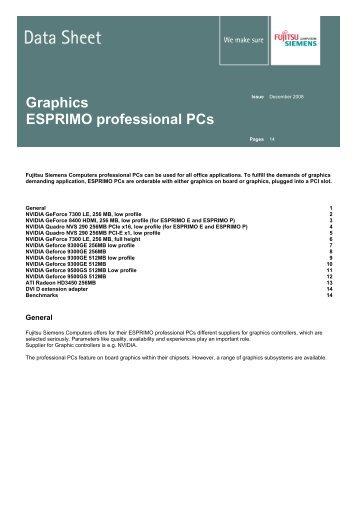 Graphics ESPRIMO professional PCs - Fujitsu UK