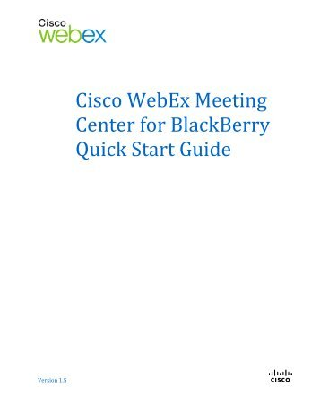 how to use webex meeting center