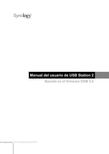 Manual del usuario de USB Station 2 - Synology Inc.