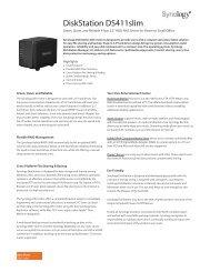 Synology DiskStation DS412+ 4 Bay NAS Server Datasheet - Use-IP