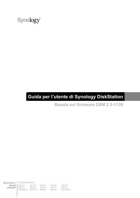 Guida per l'utente di Synology DiskStation - Synology Inc