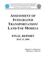 assessment of integrated transportation/ land use models