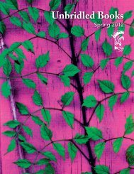 the Unbridled Books Spring 2012 catalog! (pdf)