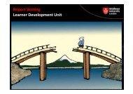 Report Writing Learner Development Unit - UniHub