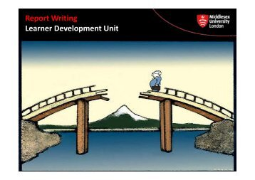 Report Writing Learner Development Unit - UniHub
