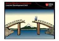 Giving Effective Presentations Learner Development Unit - UniHub