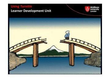 Using Turnitin Learner Development Unit p - UniHub