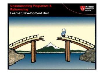 Understanding Plagiarism & Referencing Learner ... - UniHub