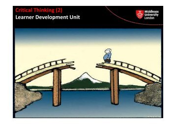 Critical Thinking (2) Learner Development Unit p - UniHub